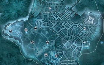 Карта с контрактами на освобождение в Бостоне в Assassin's Creed 3