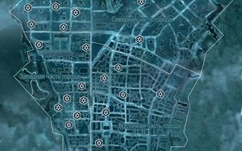 Карта с контрактами на освобождение в Нью-Йорке в Assassin's Creed 3
