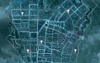 Карта побрякушек в Нью-Йорке в Assassin's Creed 3
