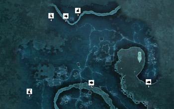 Карта охотничьих угодий поместья Дэвенпорт в Assassin's Creed 3