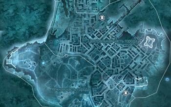 Карта с местоположением просителей с просьбами о доставке предметов в Бостоне в Assassin's Creed 3