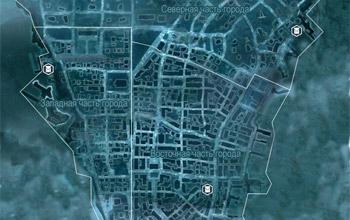 Карта с местоположением просителей с просьбами о доставке предметов в Нью-Йорке в Assassin's Creed 3