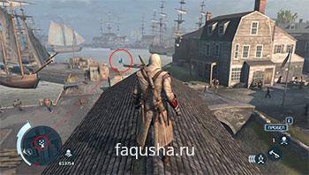 Вид иконок и точек Анимуса на мини-карте и локациях в Assassin's Creed 3