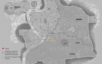 Карта Рима с логовами Последователей Ромула в Assassin's Creed: Brotherhood