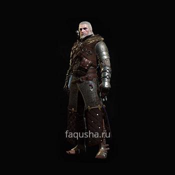 Внешний вид гроссмейстерского комплекта оружия и брони Школы Медведя в The Witcher 3: Дикая Охота - Кровь и вино