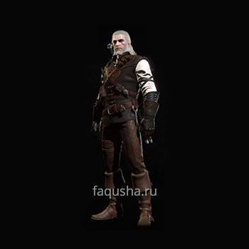 Внешний вид гроссмейстерского комплекта оружия и брони Школы Мантикоры в The Witcher 3: Дикая Охота - Кровь и вино