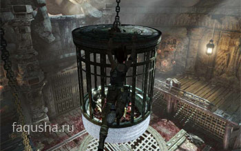 Прохождение клетки в храме над ущельем в Tomb Raider