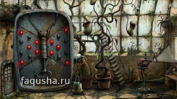 Решение головоломки с бабочкой в оранжерее в Machinarium