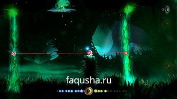 Решение загадки с призрачными грибами и зелеными лазерами в Туманном лесу в Ori and the Blind Forest