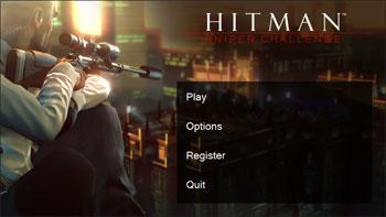 Стартовое окно Hitman: Sniper Challenge