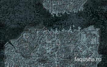Карта Константинополя с местоположением фрагментов данных Анимуса в Assassin's Creed: Revelation