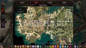 Divinity: Original Sin 2: карта с местоположением поножей из сета Бракка в Форте Радость