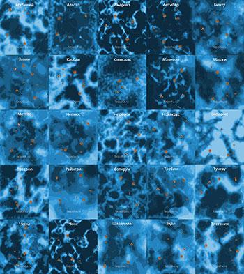 Карты планет с месторождениями полезных ископаемых в Mass Effect