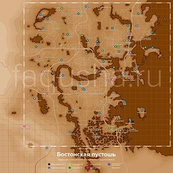 Карта с местоположением всех моделей силовой брони и ядерных блоков в Fallout 4