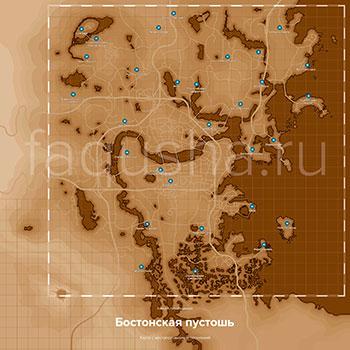Карта с местоположением всех поселений минитменов в Fallout 4