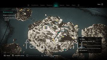 Карта с местоположением кошачьих шагов в Асгарде в Assassin's Creed Valhalla