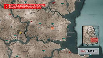 Карта с расположением 5 страницы кодекса Магаса в Эссексе в Assassin's Creed Valhalla