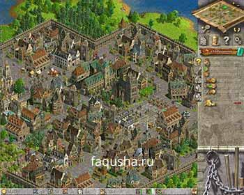 Главная колония перед атакой в седьмой главе 'Новые связи' в Anno 1503