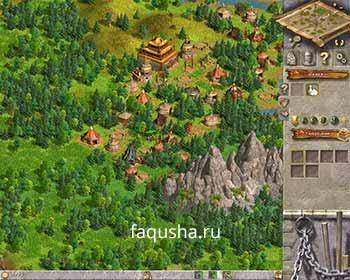 Местоположение поселения монголов в первой главе 'Нова Фора' в Anno 1503
