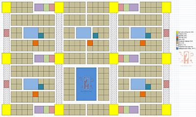 Схема с планировкой для эффективной застройки северных колоний в Anno 1404