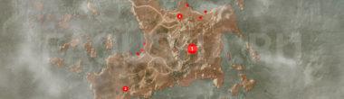 Карта задания 'Остров Туманов' в 'Ведьмаке 3'