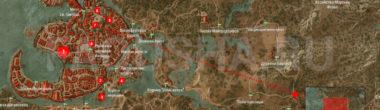 Карта задания 'Список блудниц' в 'Ведьмаке 3'