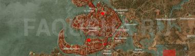 Карта задания 'Последние приготовления' в 'Ведьмаке 3'