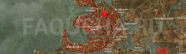 Карта задания 'Расплата' в 'Ведьмаке 3'