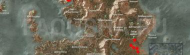 Карта задания 'Эхо прошлого' в 'Ведьмаке 3'