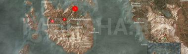 Карта задания 'Tedd Deireadh, Час Конца' в 'Ведьмаке 3'