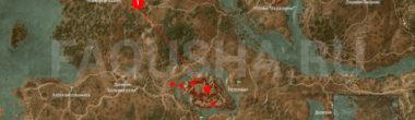 Карта задания 'Кровавый барон' в 'Ведьмаке 3'