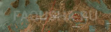 Карта задания 'Охота на ведьму' в 'Ведьмаке 3'