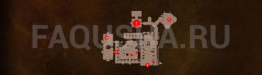 Карта задания 'Аудиенция' в 'Ведьмаке 3'