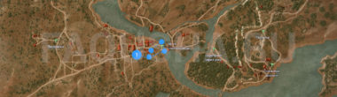 Карта задания 'Игра с огнем' в 'Ведьмаке 3'