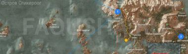 Карта задания 'Королевский гамбит' в 'Ведьмаке 3'
