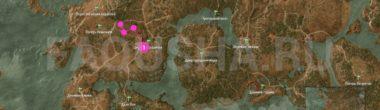 """Карта задания """"Лешачиха"""" в """"Ведьмаке 3"""""""