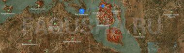 """Карта задания """"Доброволец"""" в """"Ведьмаке 3"""""""