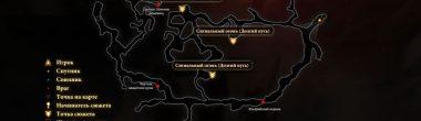 """Карта задания """"Долгий путь"""" в Dragon Age 2"""