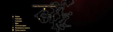 """Карта задания """"Усмирение"""" в Dragon Age 2"""