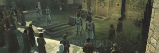 Assassin's Creed: подставной Робер де Сабле на похоронах Мажд Аддина в Иерусалиме в шестом блоке памяти