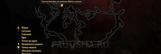 """Карта задания """"Найти и спасти"""" в Dragon Age 2"""