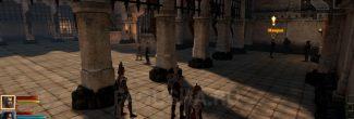 """Мииран во дворе Казематов в задании """"Гибель Лотеринга"""" в Dragon Age 2"""