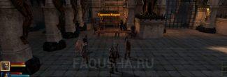 """Торговец Каврил во дворе Казематов в задании """"Гибель Лотеринга"""" в Dragon Age 2"""