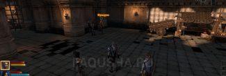 """Фридрих во дворе Казематов в задании """"Гибель Лотеринга"""" в Dragon Age 2"""
