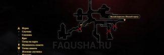 """Карта задания """"Низкий город"""" в Dragon Age 2"""