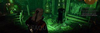"""Дух Анабелль в лаборатории Александэра на вершине башни в Коломнице в задании """"Мышиная башня"""" в """"Ведьмаке 3"""""""