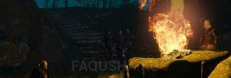 """Охотники за колдуньями на ритуале в Коломнице в задании """"Дяды"""" в """"Ведьмаке 3"""""""