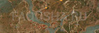 Карта с местоположением сокровищ в задании 'Золото дезертиров' в 'Ведьмаке 3'