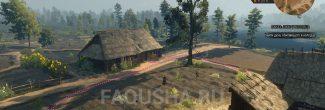 Местоположение дома Одолана в западной части Белого Сада в задании 'Лихо у колодца' в 'Ведьмаке 3'