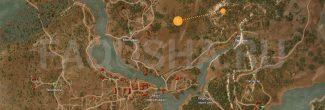 Карта с местоположением сокровищ в задании 'Грязные деньги' в 'Ведьмаке 3'